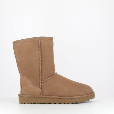 ugg-classic short-camel-cuir velours