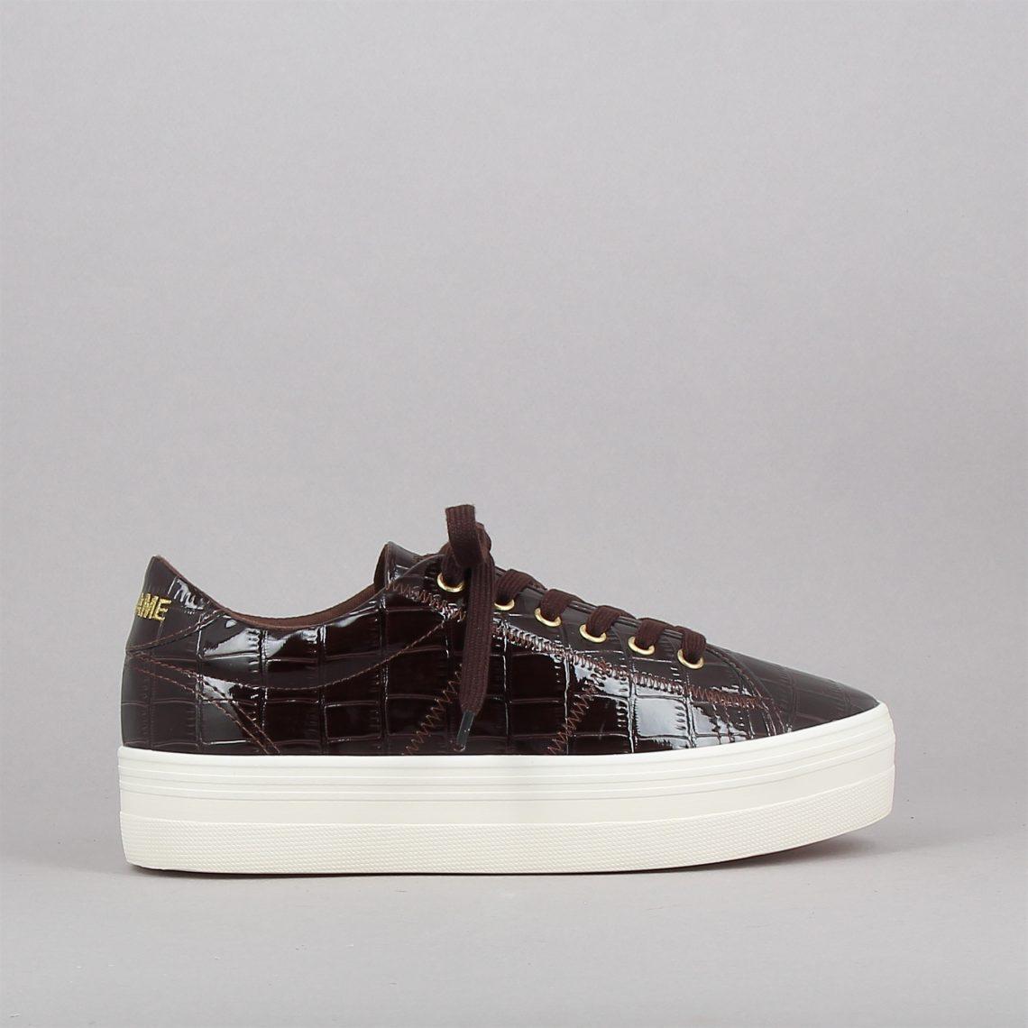 plato sneaker croco